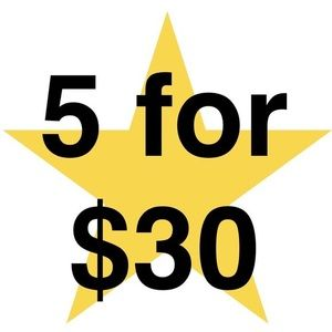 Everything with a ⭐️ is 5 for $30!!